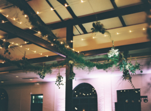 Greenery Garland in Ceiling for Wedding
