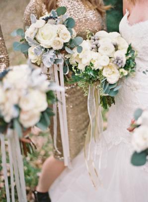 Hand Tied Bridesmaid Bouquets