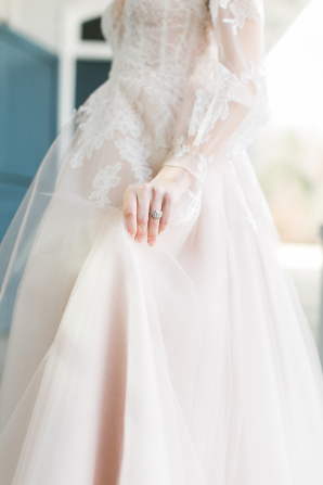 Hayley Paige Gown with Sleeves