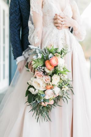 Indigo and Coral Wedding Colors