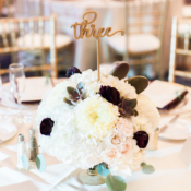 Ivory Flower and Succulent Centerpiece