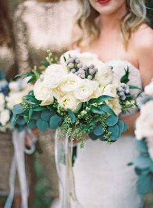 Ivory Green Gray Bridal Bouquet