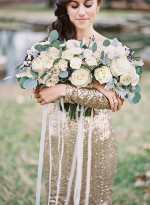 Ivory and Gold Bridesmaid Attire