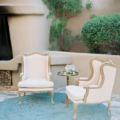 Ivory and Teal Wedding Lounge Area