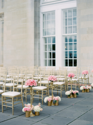Pink and Gold Wedding Ceremony