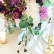 Purple and Green Wedding Centerpiece