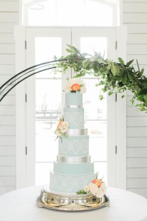 Robins Egg Blue Wedding Cake