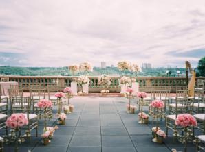 Rooftop Wedding Ceremony with Elegant Flowers