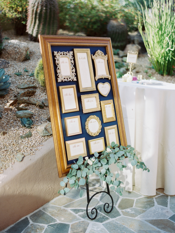Seating Chart in Photo Frame