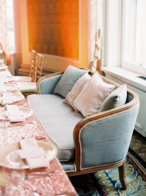 Settee as Wedding Seating