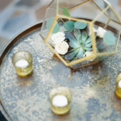 Succulent and Candle Wedding Decor