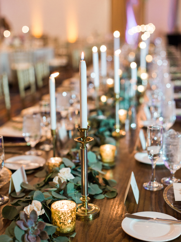 Taper Candle Wedding Centerpiece