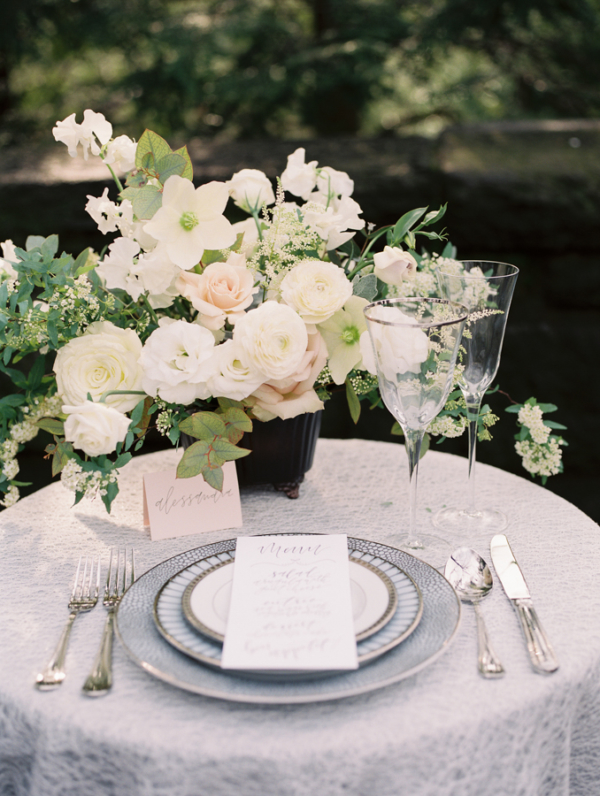 Very Pale Pastel Wedding Table