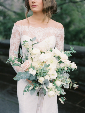 White and Eucalyptus Bouquet