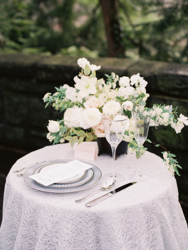 White and Ivory Wedding Table