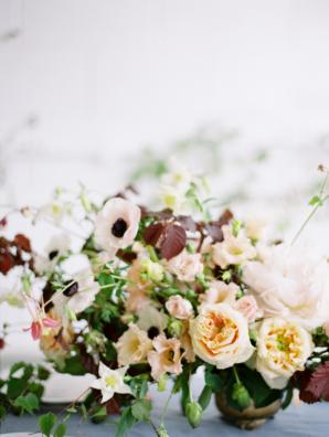 Airy Fall Wedding Centerpiece