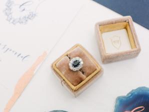 Amber Wedding Ring Box
