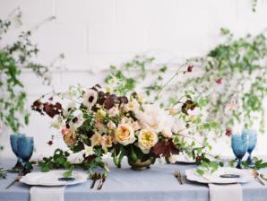 Apricot and Garnet Wedding Flowers
