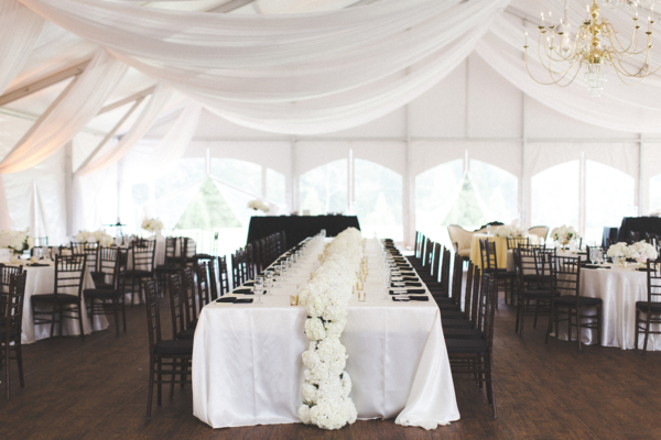 Black and White Wedding Reception