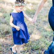 Blue Dress for Flower Girl