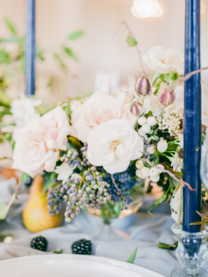 Blue and Blush Wedding Table