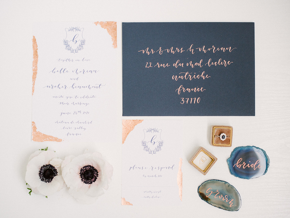 Blue and Copper Wedding Invitations - Elizabeth Anne Designs: The ...