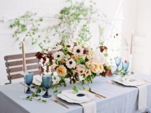 Blue and Gold Modern Romantic Wedding Ideas