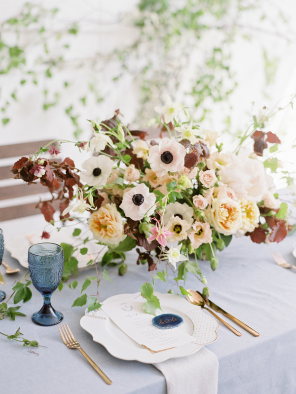 Blush and Rust Wedding Flowers