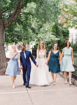 Bridal Party with Men and Women