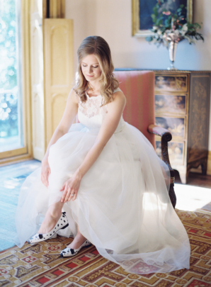 Bride in Dog Flats