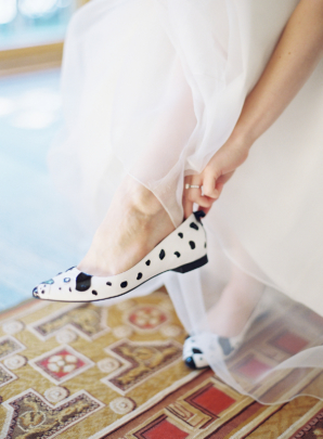 Bride in Kate Spade Dog Shoes