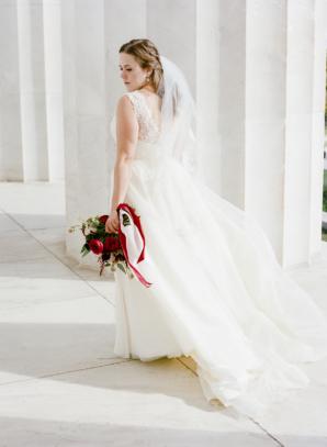 Bride in Modern Trousseau Gown