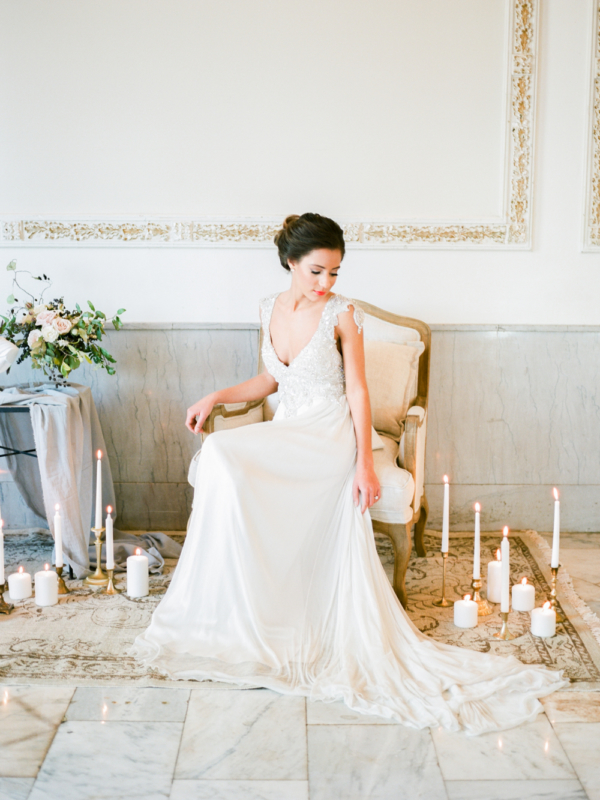 Bride in Vintage Chair