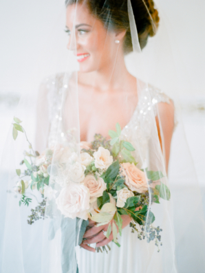 Bride with Sheer Veil