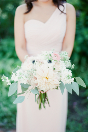 Bridesmaid Bouquet of Blush Flowers