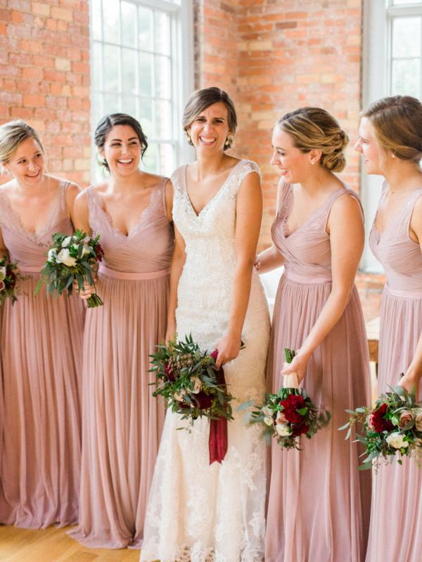 Bridesmaids in BHLDN Fleur Gown