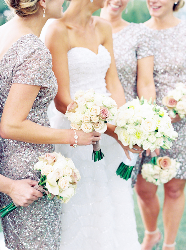 Bridesmaids in Silver Sequins