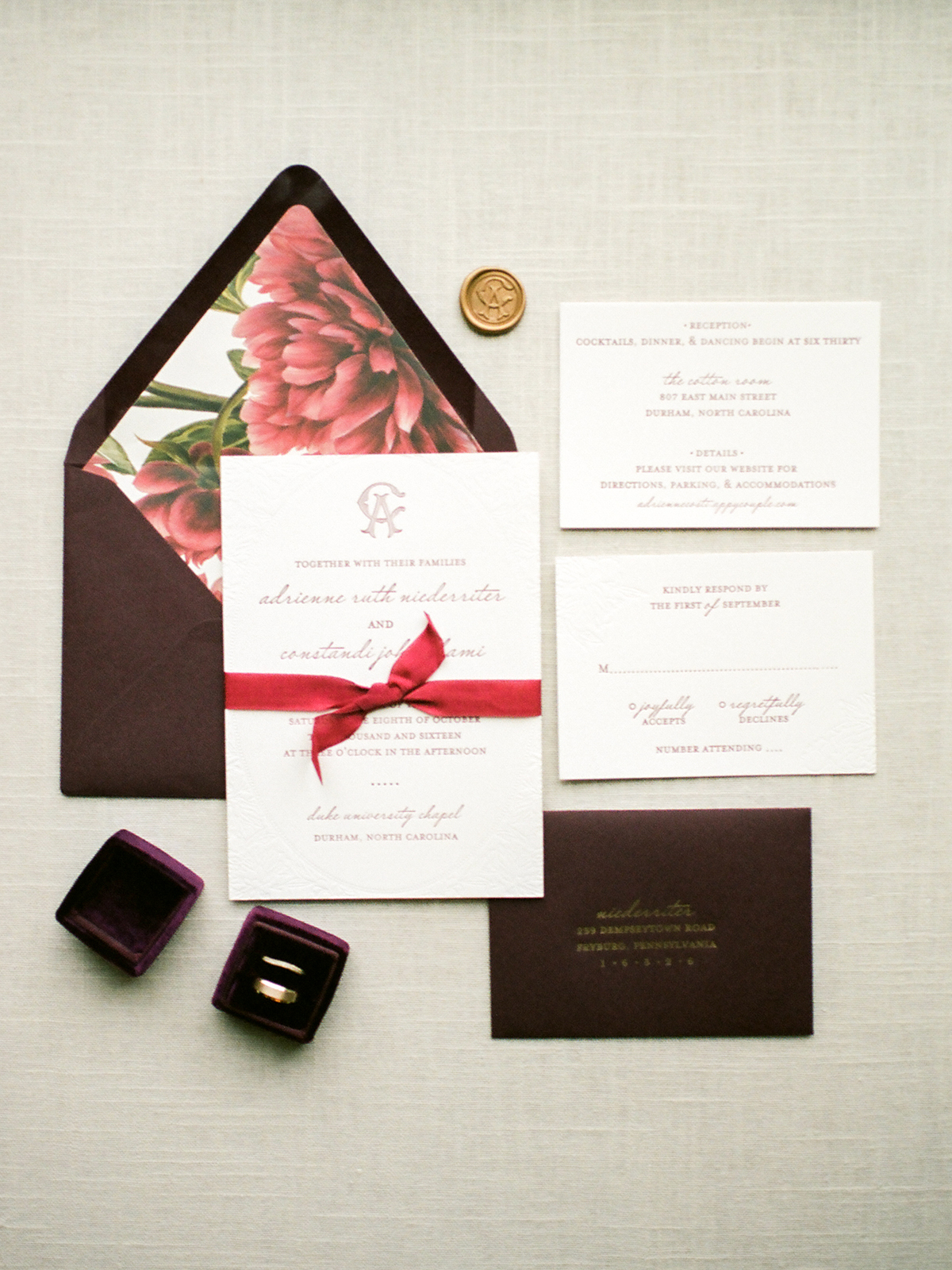 Brown and Taupe Wedding Invitations - Elizabeth Anne Designs: The ...