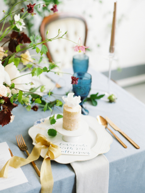 Calligraphy and Cake Place Setting