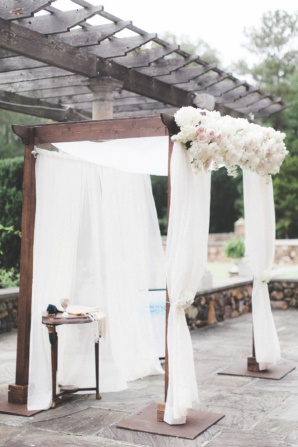 Chuppah of Wood and Draping