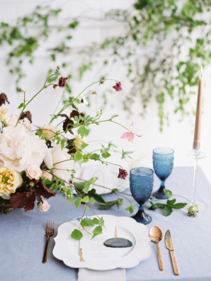 Copper and Blue Modern Wedding Ideas