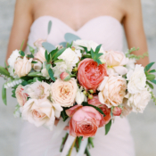 Coral and Peach Wedding Bouquet