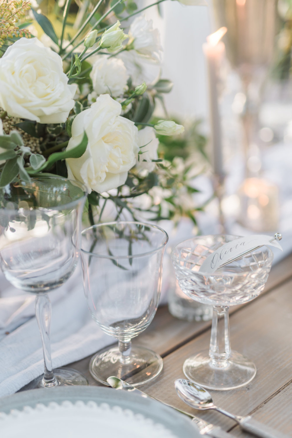 Crystal Goblet Place Cards