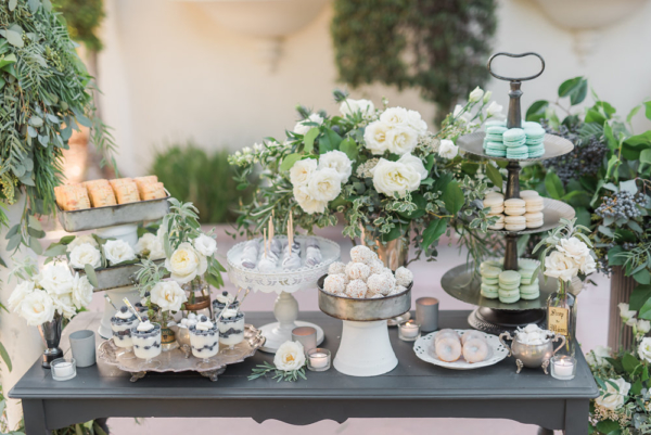 Dessert Table in White and Blue