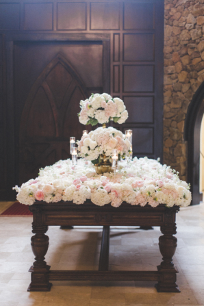 Dramatic Flower Table at Wedding