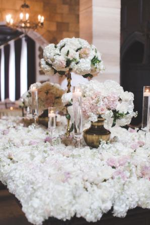 Dramatic Wedding Floral Installation