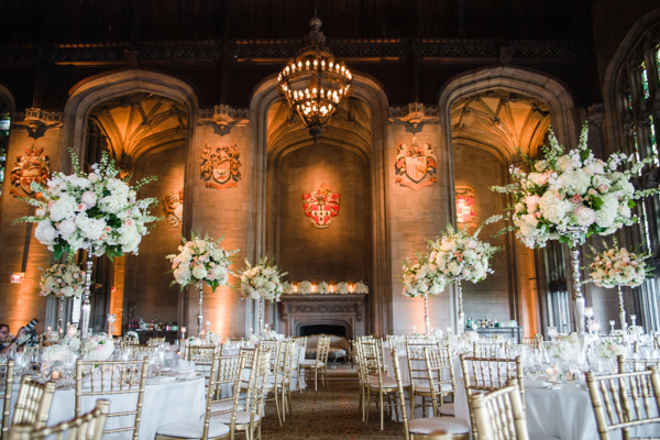 Dramatic Wedding Reception in Private Club