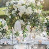 Elegant White Rose Centerpiece