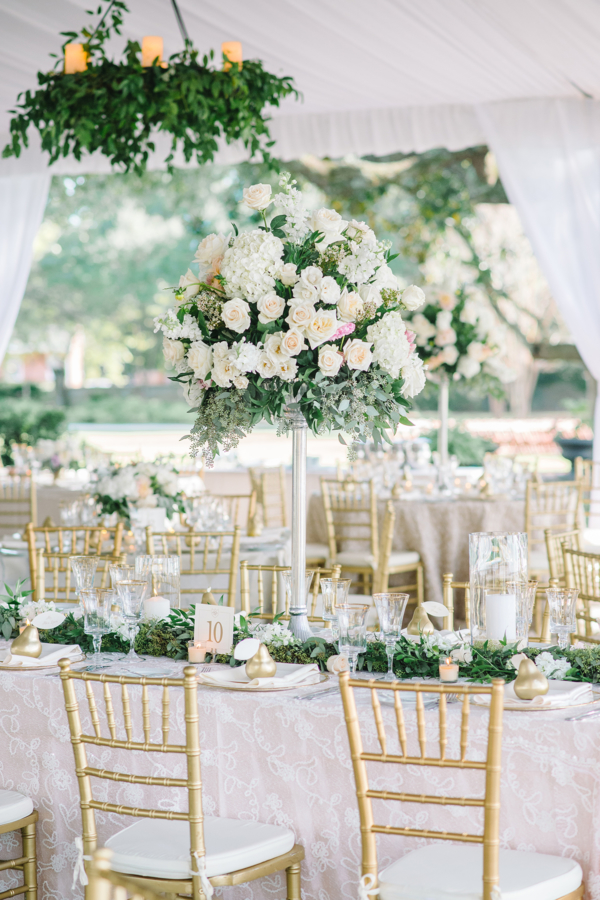 Elegant White Tented Wedding Reception