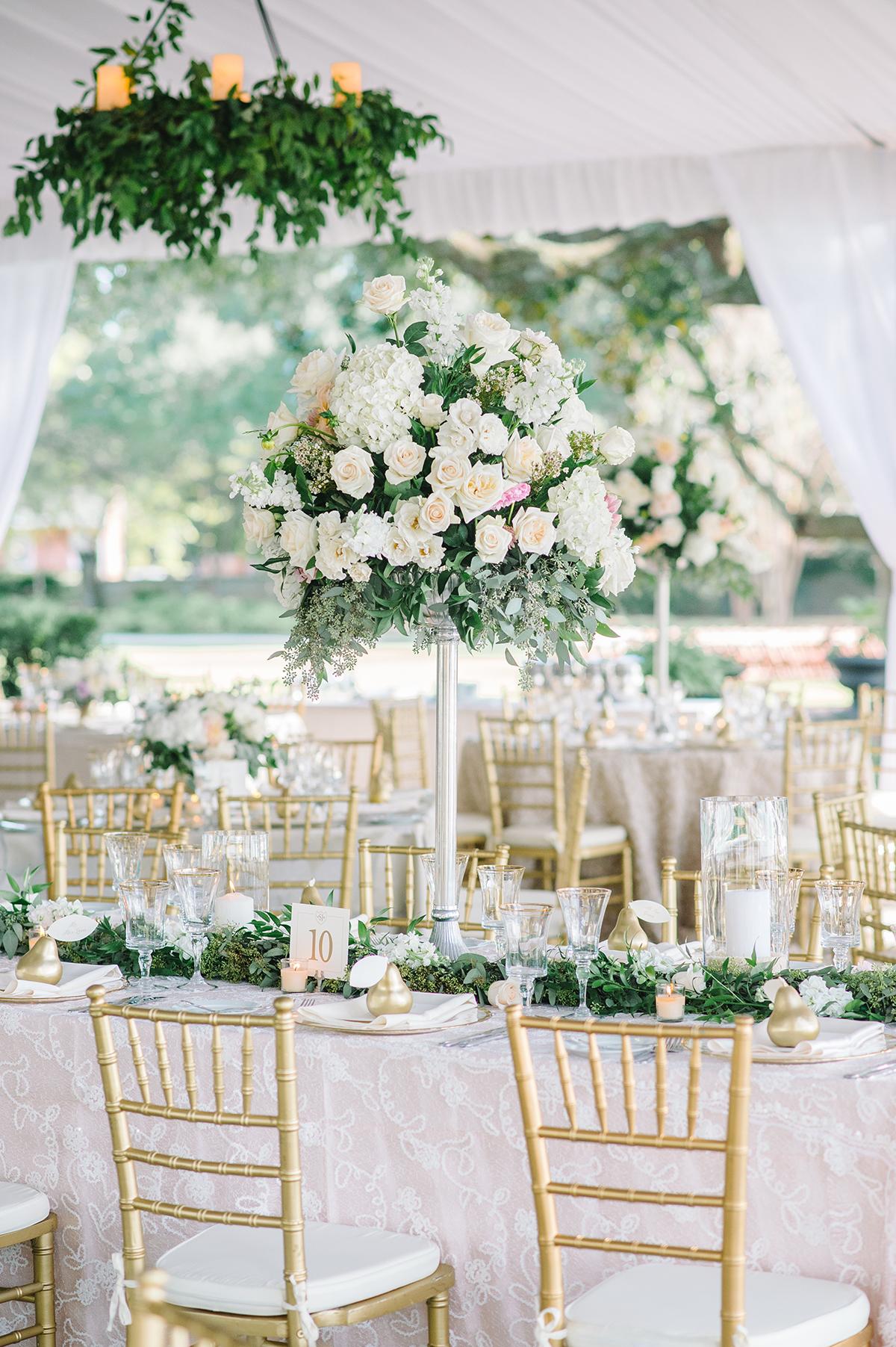 Elegant White Tented Wedding Reception Elizabeth Anne Designs The